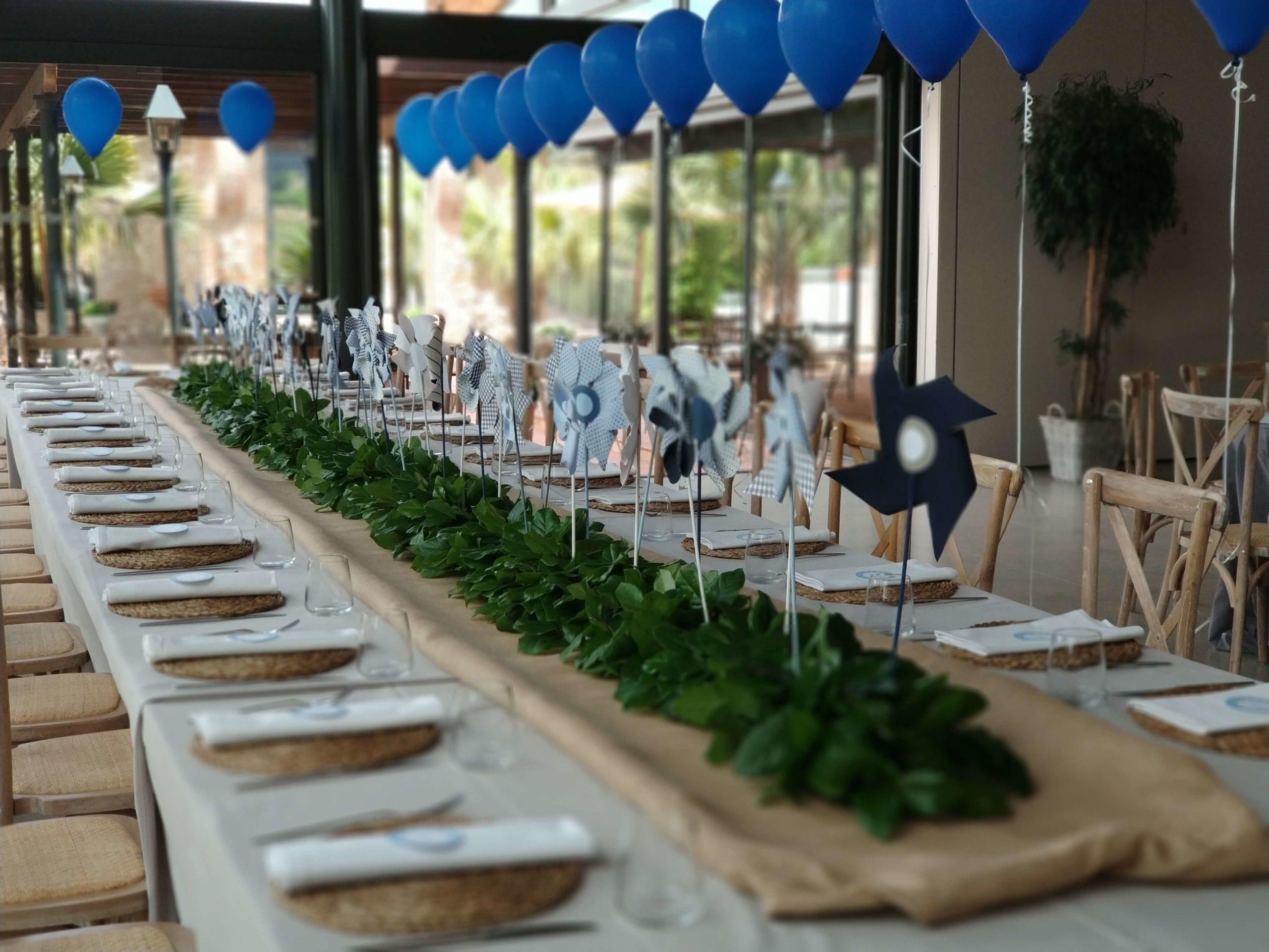 Banquete de comunión en el salón Rambla