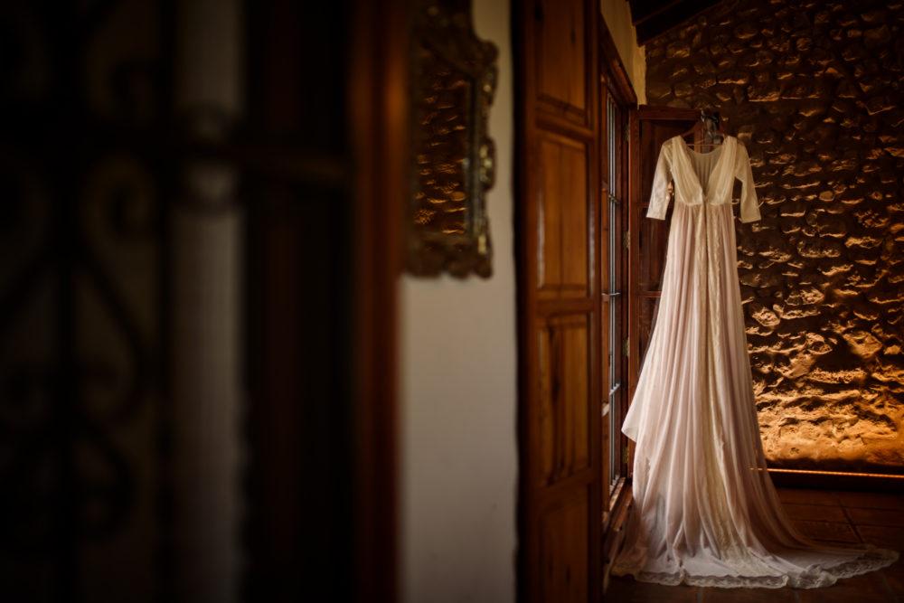 el vestidor de la novia en la masía les casotes